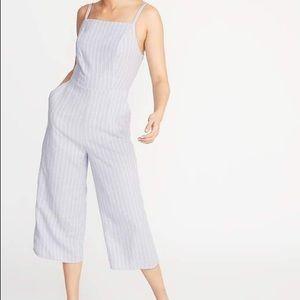 Old Navy Striped Linen-Blend Cami Jumpsuit